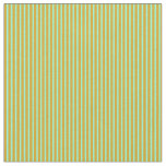 [ Thumbnail: Goldenrod and Aquamarine Colored Pattern Fabric ]
