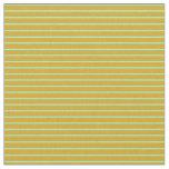 [ Thumbnail: Goldenrod and Aquamarine Stripes/Lines Pattern Fabric ]