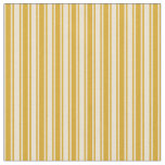[ Thumbnail: Goldenrod and Beige Pattern Fabric ]