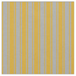 [ Thumbnail: Goldenrod and Dark Grey Colored Lines Pattern Fabric ]