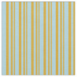 [ Thumbnail: Goldenrod and Light Blue Colored Pattern Fabric ]