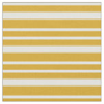 [ Thumbnail: Goldenrod and Light Cyan Stripes Fabric ]
