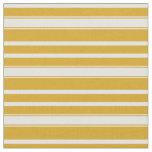 [ Thumbnail: Goldenrod and Light Cyan Stripes Fabric ]