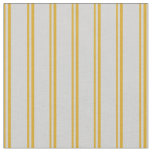 [ Thumbnail: Goldenrod and Light Gray Lined Pattern Fabric ]