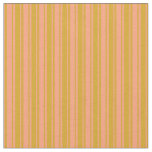 [ Thumbnail: Goldenrod and Light Salmon Lined/Striped Pattern Fabric ]