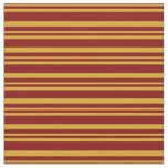 [ Thumbnail: Goldenrod and Maroon Lines/Stripes Pattern Fabric ]