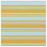 [ Thumbnail: Goldenrod and Powder Blue Pattern Fabric ]