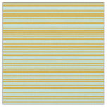 [ Thumbnail: Goldenrod and Turquoise Colored Stripes Fabric ]