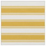 [ Thumbnail: Goldenrod and White Colored Pattern Fabric ]