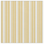 [ Thumbnail: Goldenrod and White Colored Striped/Lined Pattern Fabric ]