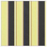 [ Thumbnail: Goldenrod, Bisque, Yellow, Black & Midnight Blue Fabric ]