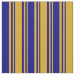 [ Thumbnail: Goldenrod & Blue Colored Pattern Fabric ]