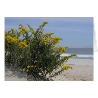 Goldenrod Bush by the Sea with Monarch Butterflies Card