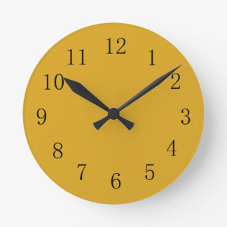 Goldenrod Color Yellow Kitchen Wall Clock