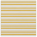 [ Thumbnail: Goldenrod & Lavender Pattern of Stripes Fabric ]