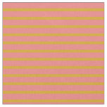 [ Thumbnail: Goldenrod & Light Coral Colored Striped Pattern Fabric ]