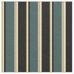 [ Thumbnail: Goldenrod, Light Cyan, Black, Slate Gray & Grey Fabric ]