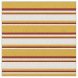 [ Thumbnail: Goldenrod, Light Cyan & Maroon Lines Pattern Fabric ]