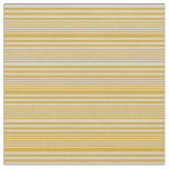 [ Thumbnail: Goldenrod & Light Gray Colored Pattern Fabric ]
