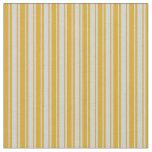 [ Thumbnail: Goldenrod & Light Grey Lines/Stripes Pattern Fabric ]