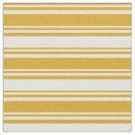 [ Thumbnail: Goldenrod & Light Yellow Colored Stripes Fabric ]