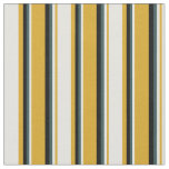 [ Thumbnail: Goldenrod, Light Yellow, Dark Slate Gray & Black Fabric ]