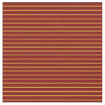 [ Thumbnail: Goldenrod & Maroon Lined/Striped Pattern Fabric ]