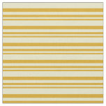[ Thumbnail: Goldenrod & Pale Goldenrod Colored Lines Fabric ]