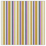 [ Thumbnail: Goldenrod, Pale Goldenrod, Orchid, Gray & White Fabric ]