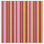 [ Thumbnail: Goldenrod, Violet, Brown & Maroon Colored Pattern Fabric ]