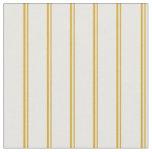[ Thumbnail: Goldenrod & White Colored Lines Fabric ]