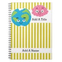 Goldenrod Yellow-White Stripe•School•Custom Notebook