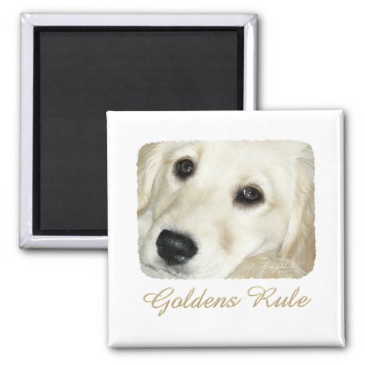 Goldens Rule 2 Inch Square Magnet