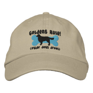Goldens Rule Embroidered Hat (Golden Retriever)
