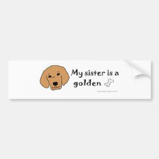 GoldenSister Bumper Sticker