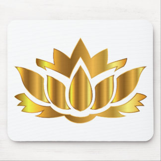 Golder Lotus Mouse Pad