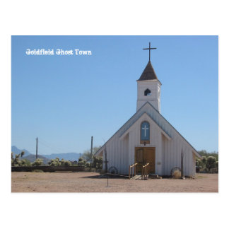 Goldfield Ghost Town Church Postcard