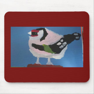 Goldfinch abstract painted garden bird mouse pad