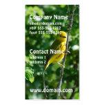 Goldfinch amarillo plantilla de tarjeta de negocio