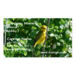 Goldfinch amarillo tarjeta personal