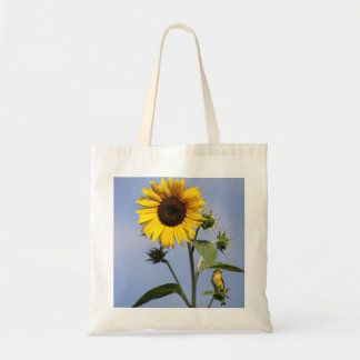 Goldfinch americano en el girasol bolsa tela barata