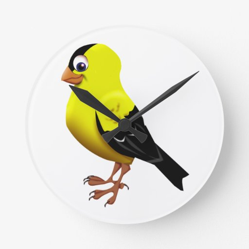 GOLDFINCH AMERICANO RELOJES DE PARED