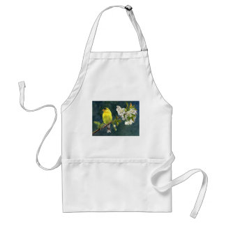 Goldfinch and Cherry Blossoms Adult Apron