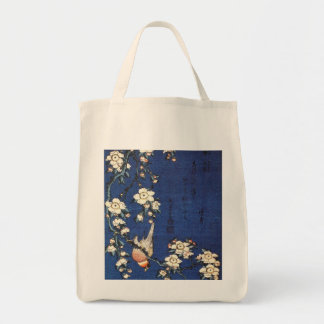 Goldfinch and Cherry Tree, c.1834 by Katsushika H Canvas Bag