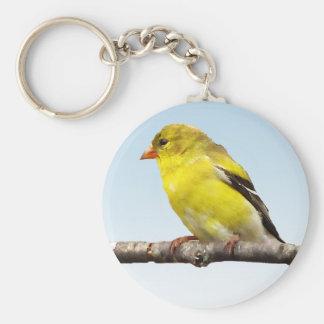 Goldfinch Basic Round Button Keychain