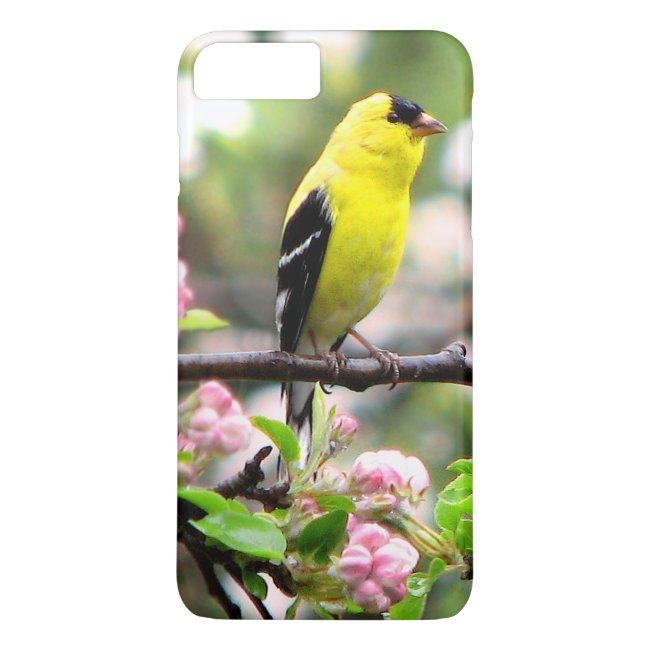 Goldfinch Bird Apple Flowers iPhone 8/7 Plus Case