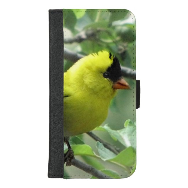 Goldfinch Bird Green iPhone 8/7 Plus Wallet Case