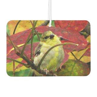 Goldfinch Bird in Autumn Air Freshener