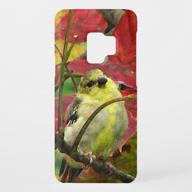 Goldfinch Bird in Autumn Galaxy S9 Case