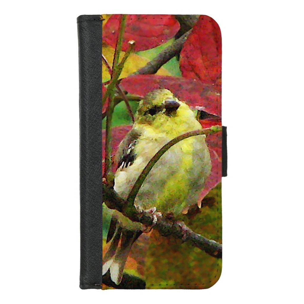 Goldfinch Bird in Autumn iPhone 8/7 Wallet Case